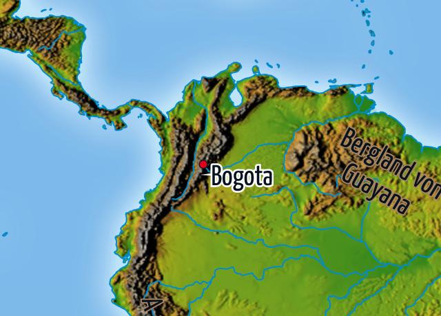 Kolumbien -Karte